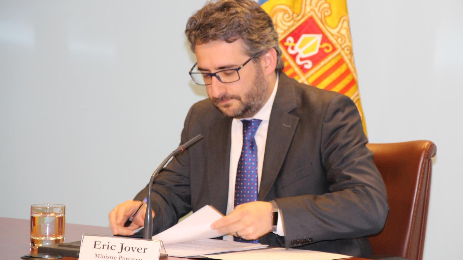 Eric Jover, ministre portaveu. / M. R. F. (ANA)