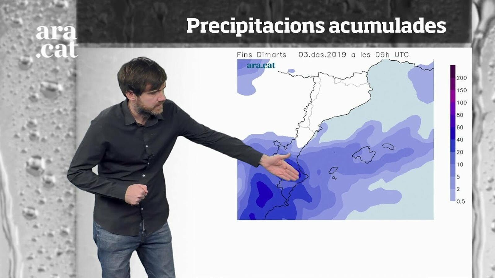 Méteo especial: un temporal de pluges, vent i mala mar marcarà la setmana