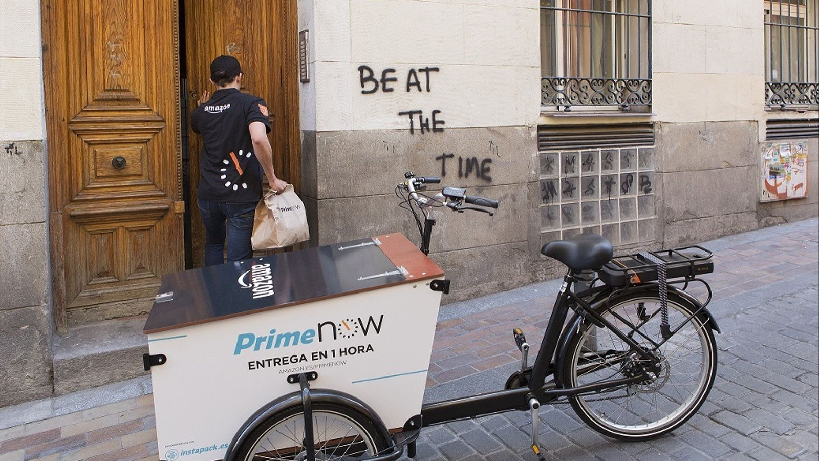 Amazon ja pot entregar en una hora, però només Madrid