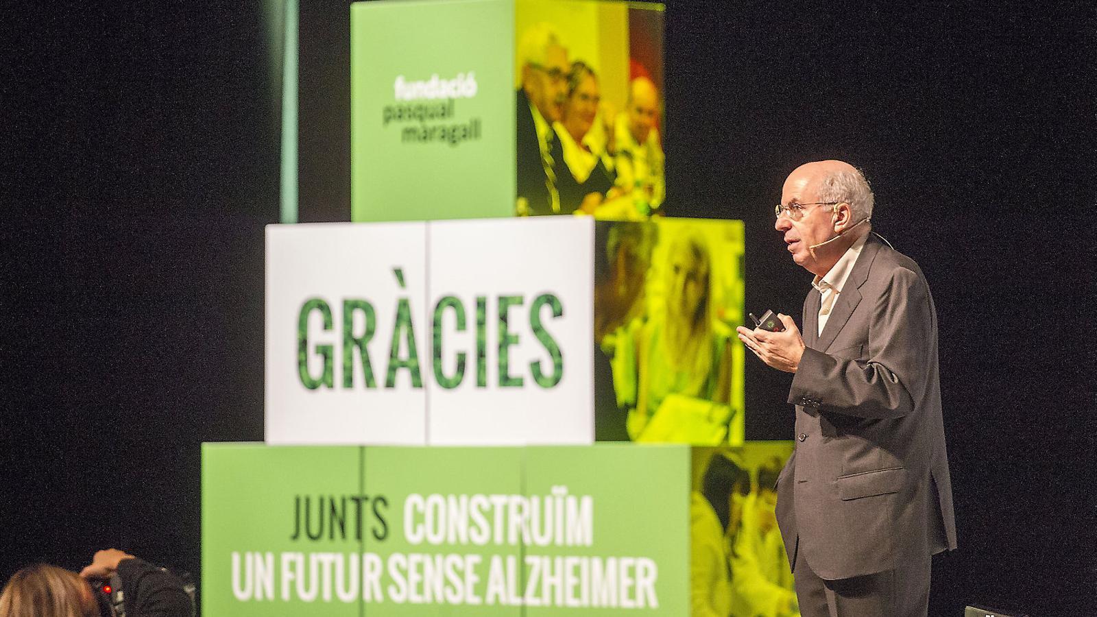 El director de la Fundació Pasqual Maragall, Jordi Camí, durant l'acte d'ahir.