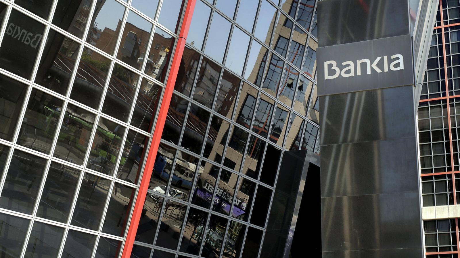 Imatge de les oficines centrals de Bankia a la plaça Castilla de Madrid divendres.