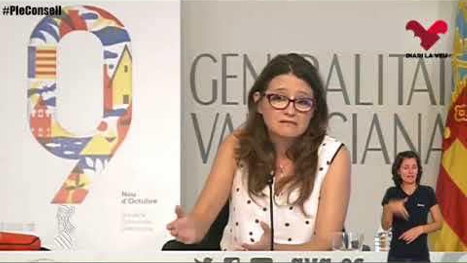 """La vicepresidenta del govern valencià compara el projecte de Països Catalans amb """"un ectoplasma"""""""