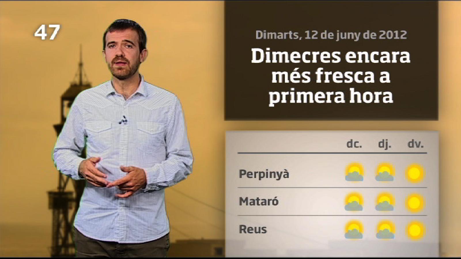 La méteo en 1 minut: dimecres molt fresc i encara insegur (13/06/2012)