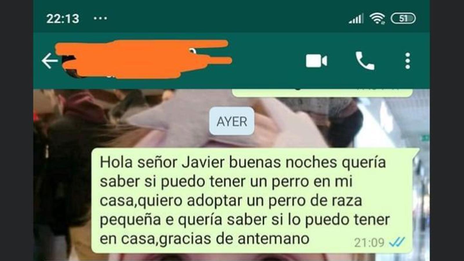Captura del missatge publicat per la jove llogatera a les xarxes. / ARA ANDORRA