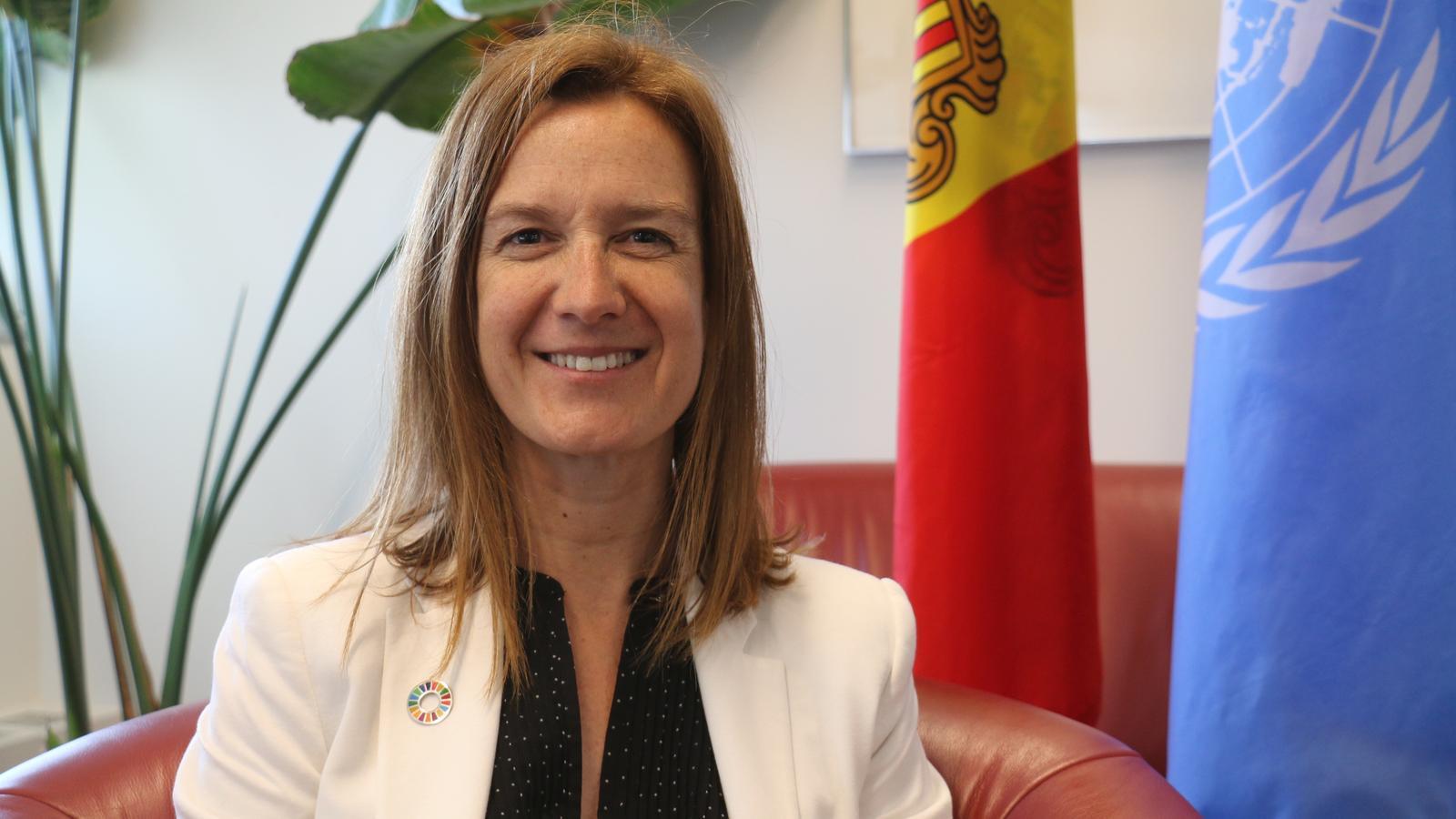 La ministra de Medi Ambient, Sílvia Calvó, a Nova York / S.C.