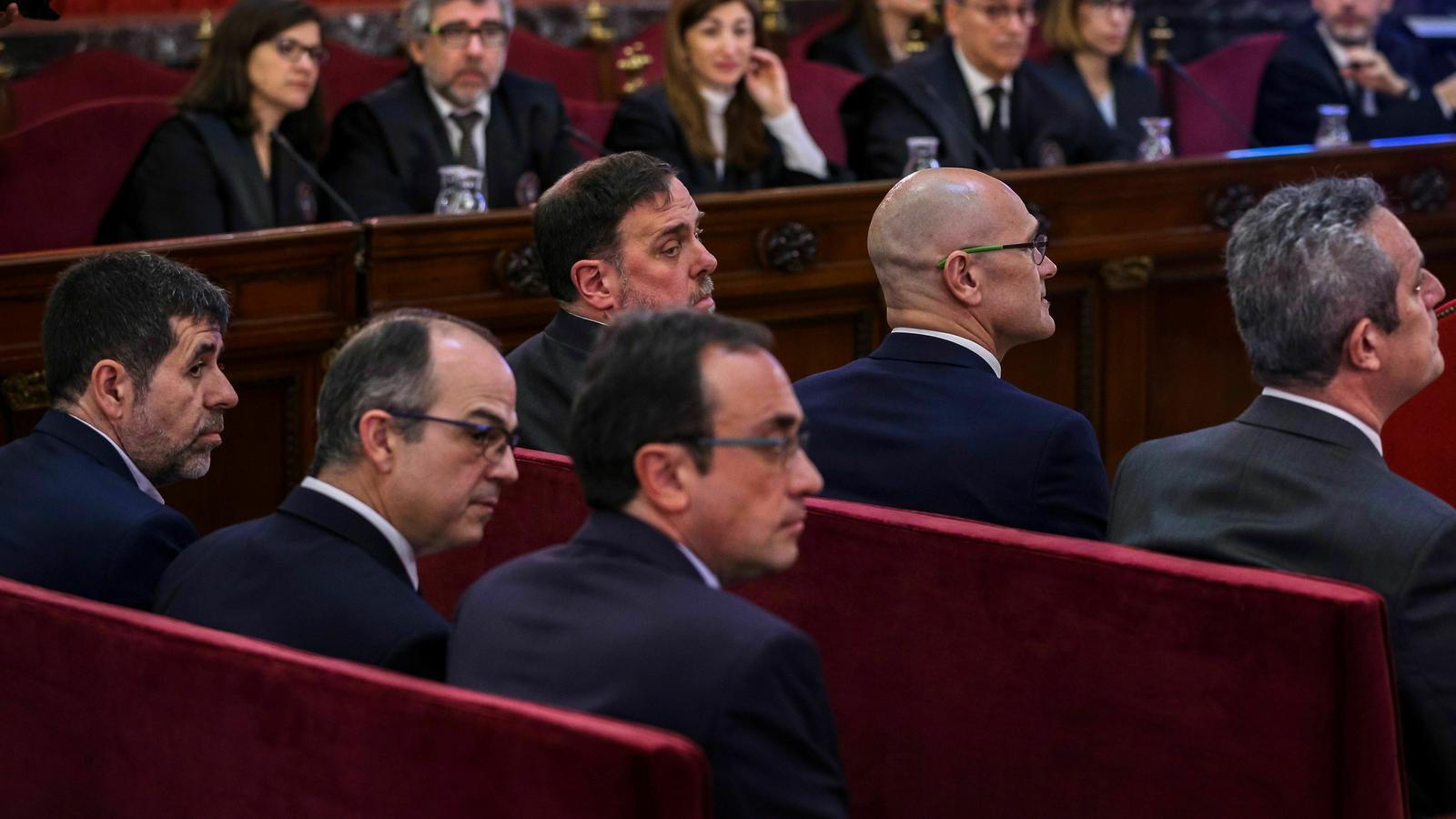 Els presos polítics, durant el judici al Procés