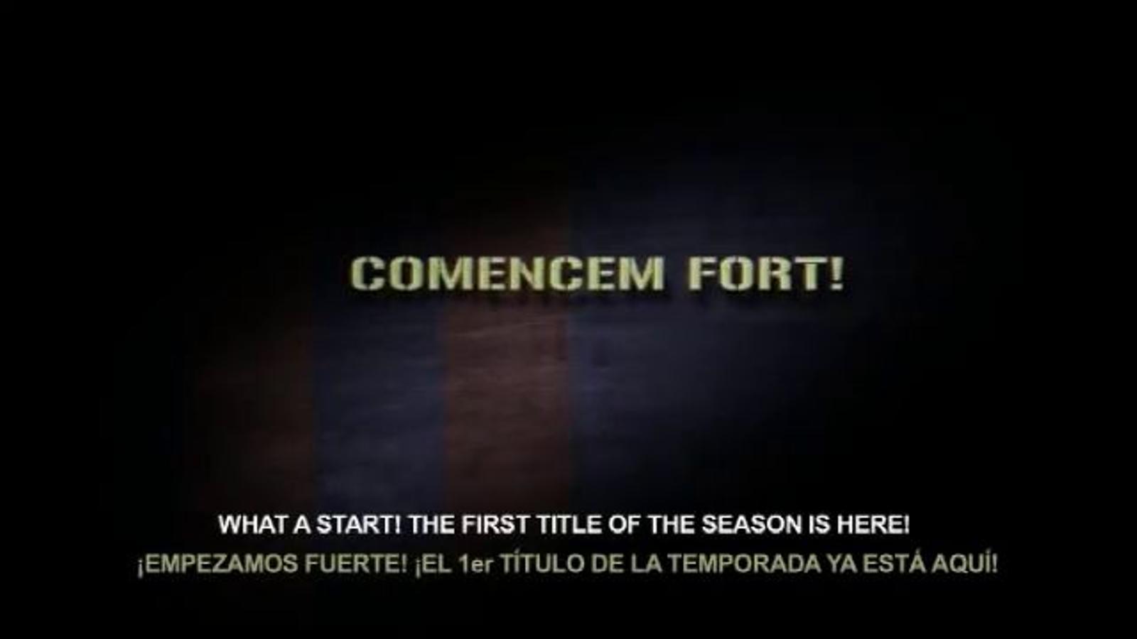 El Barça prepara un vídeo de promoció per la Supercopa