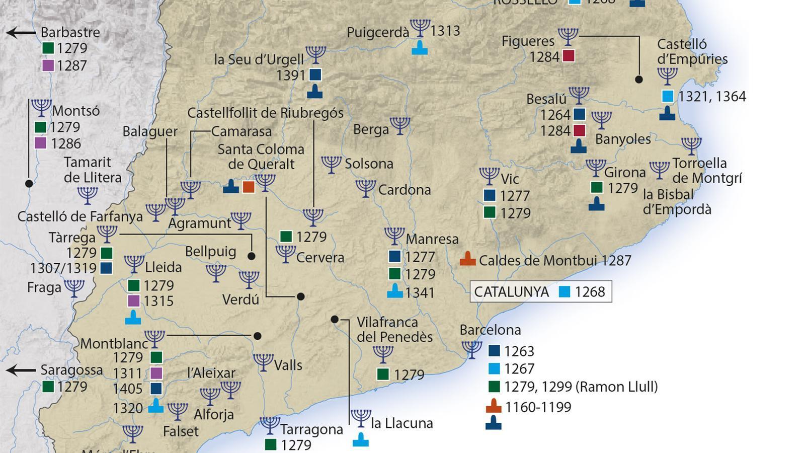 La història dels jueus a Catalunya en 140 mapes