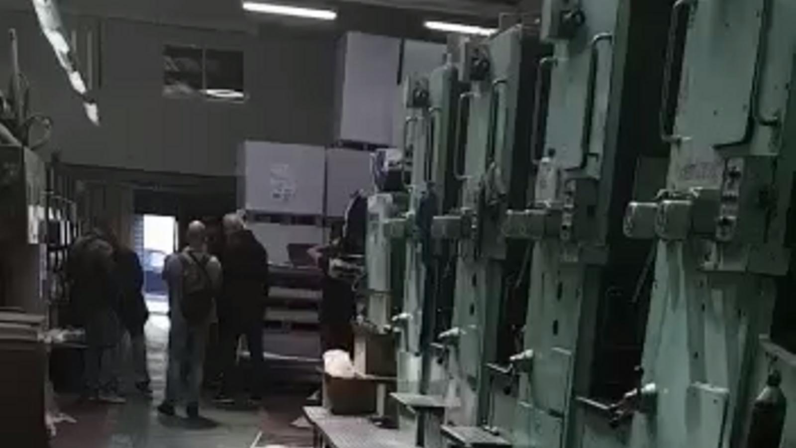 La Guàrdia Civil intervé les planxes per elaborar els cartells de l'1-O
