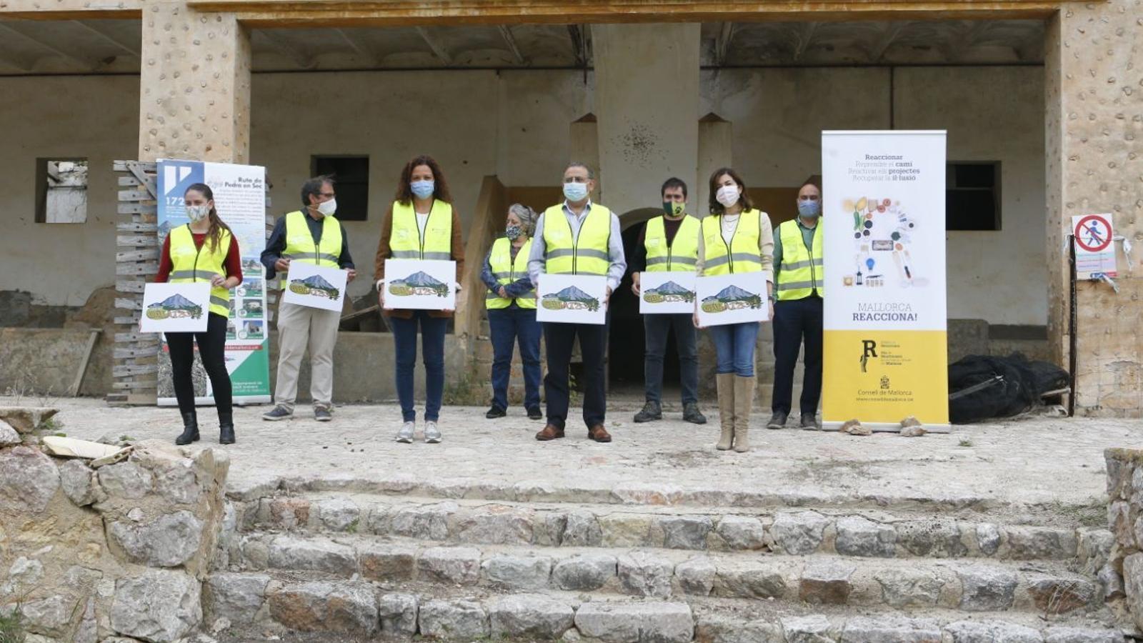 Inici de les obres al refugi de Galatzó./ CONSELL DE MALLORCA