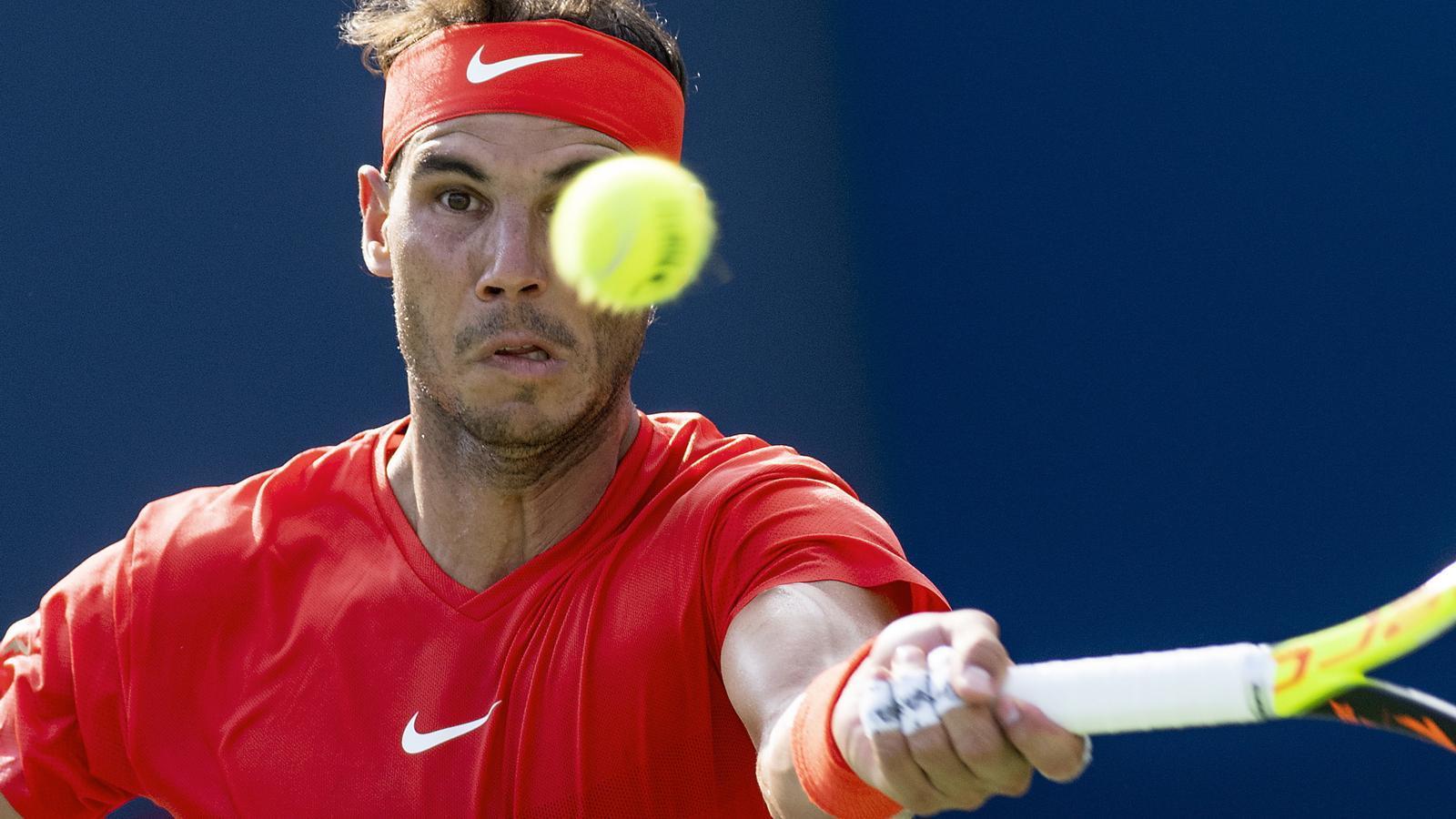 El tenista mallorquí va reafirmar ahir en pista dura el seu número 1
