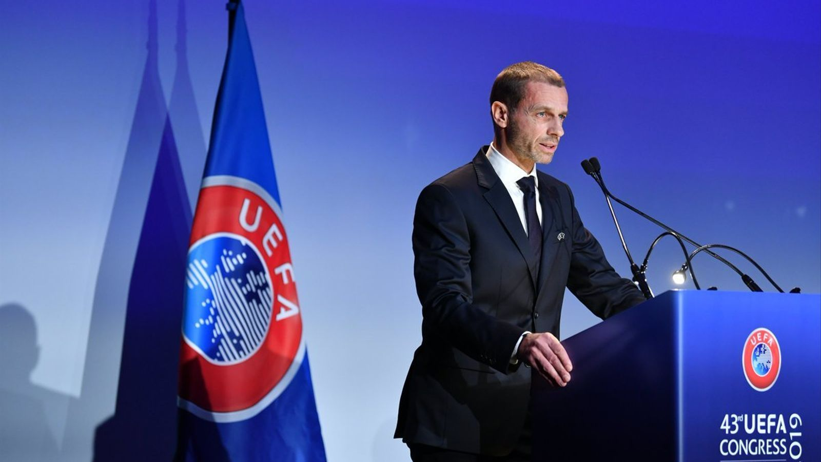 Alexander Ceferin durant el Congrés de la UEFA a Roma