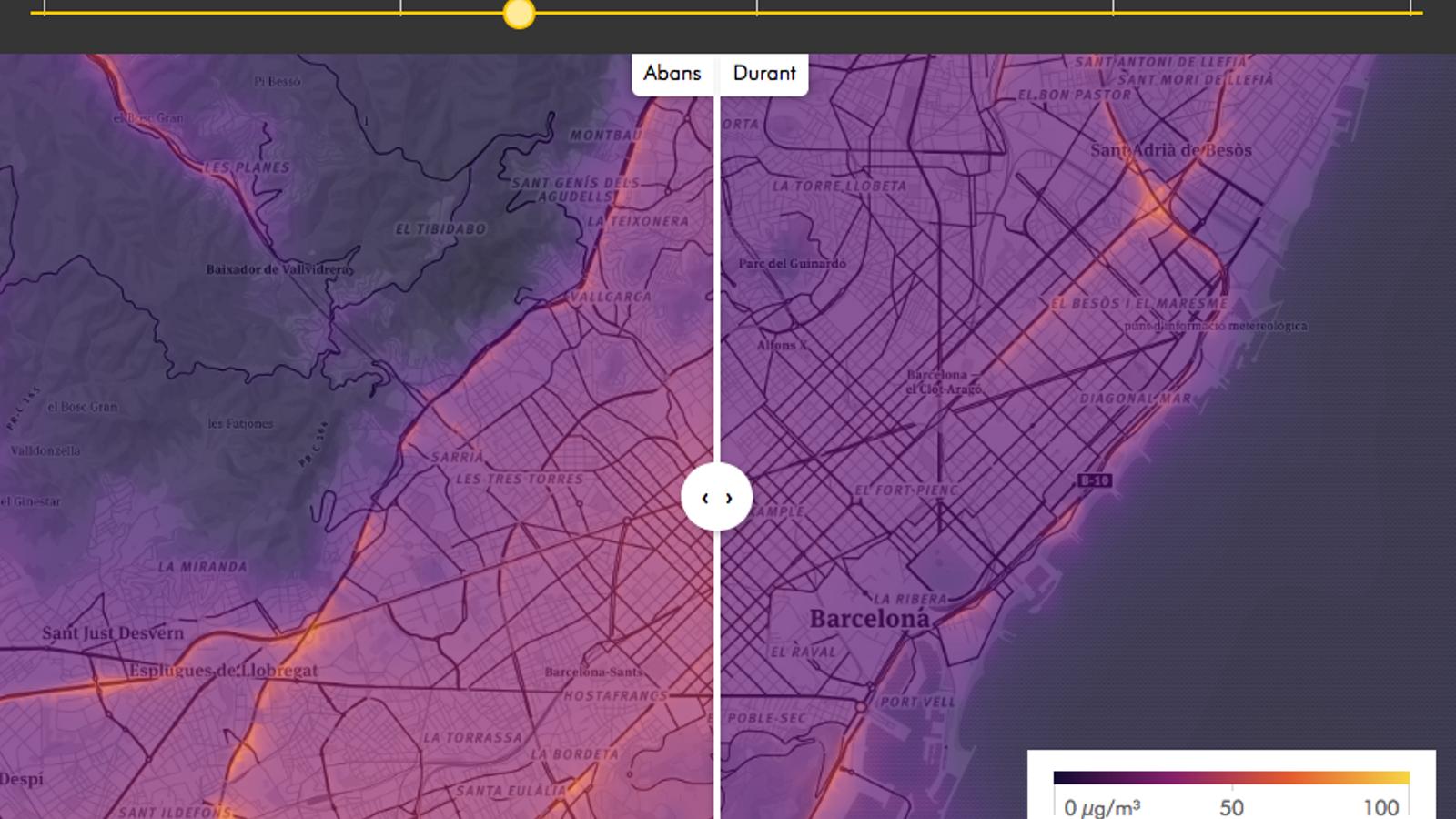 La contaminació a Barcelona abans i durant el confinament