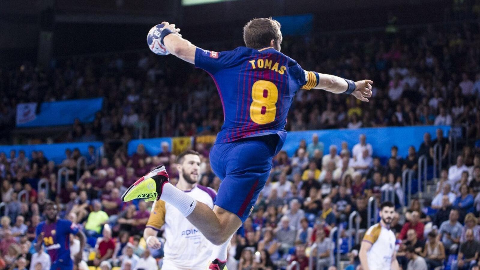 Víctor Tomás, durant el partit entre el Barça Lassa i el Nantes