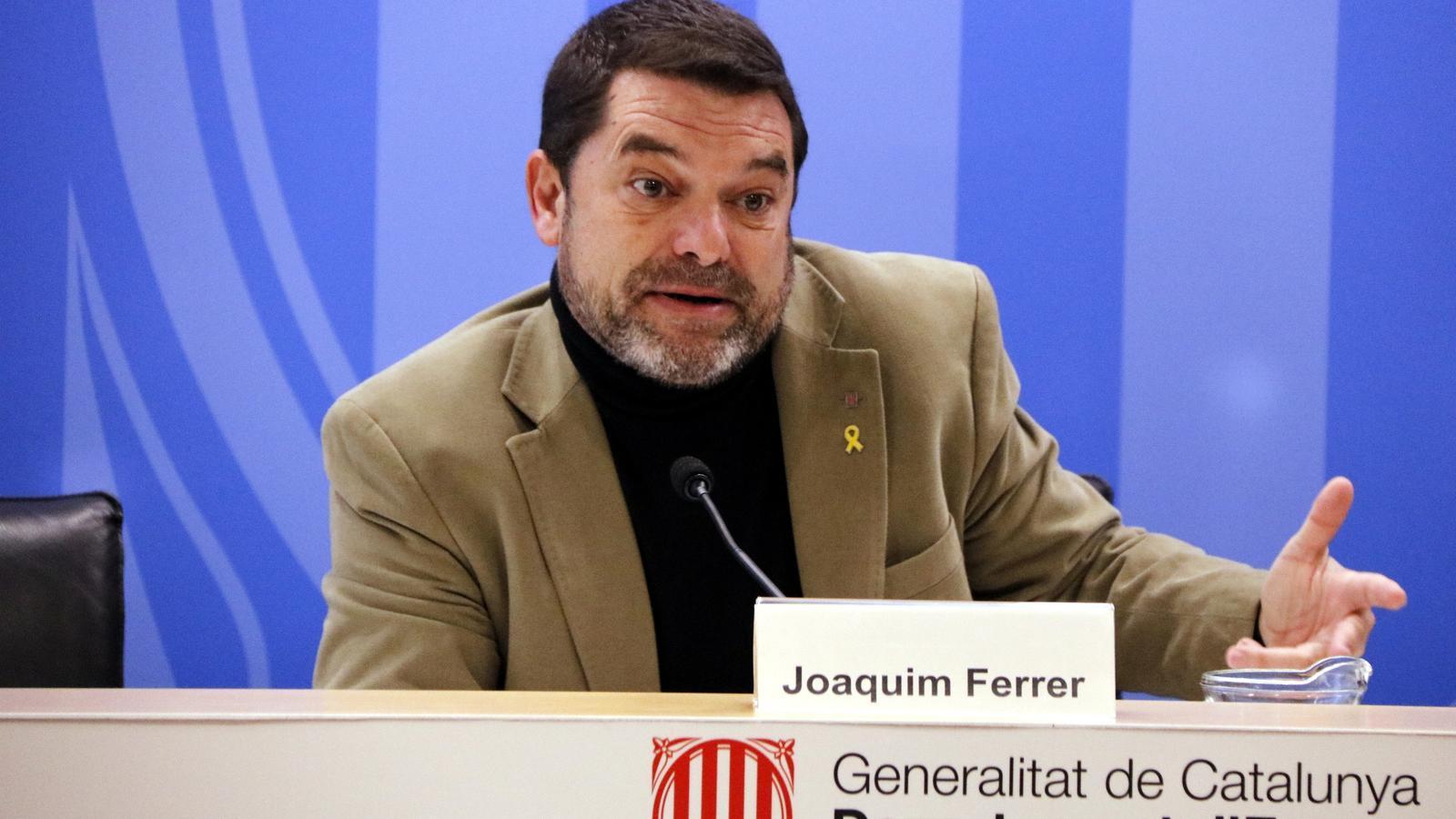 El secretari d'Empresa i Competitivitat, Joaquim Ferrer, ha presentat el balanç de l'Agència de Consum.