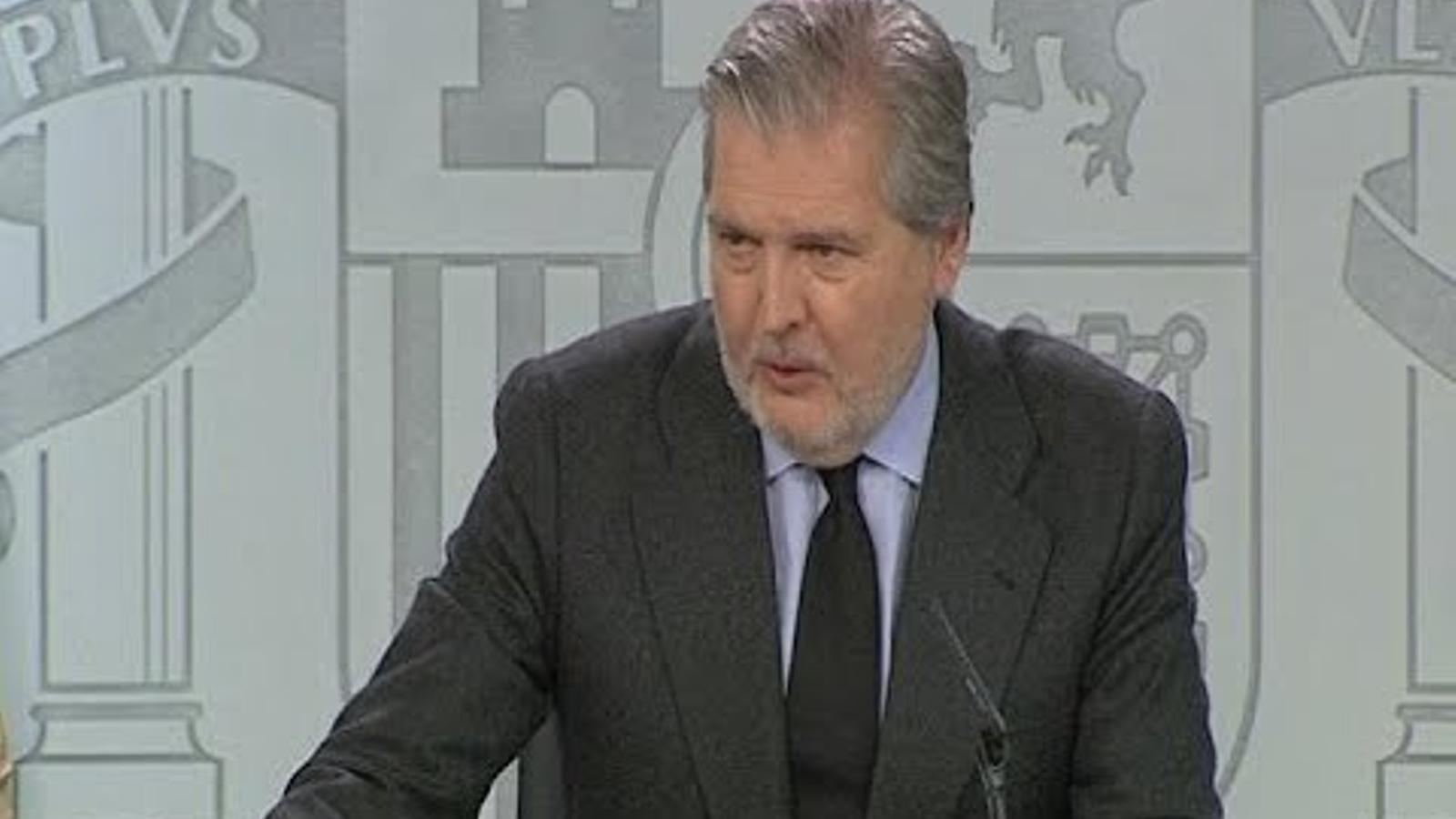 Roda de premsa del consell de ministres amb Méndez de Vigo