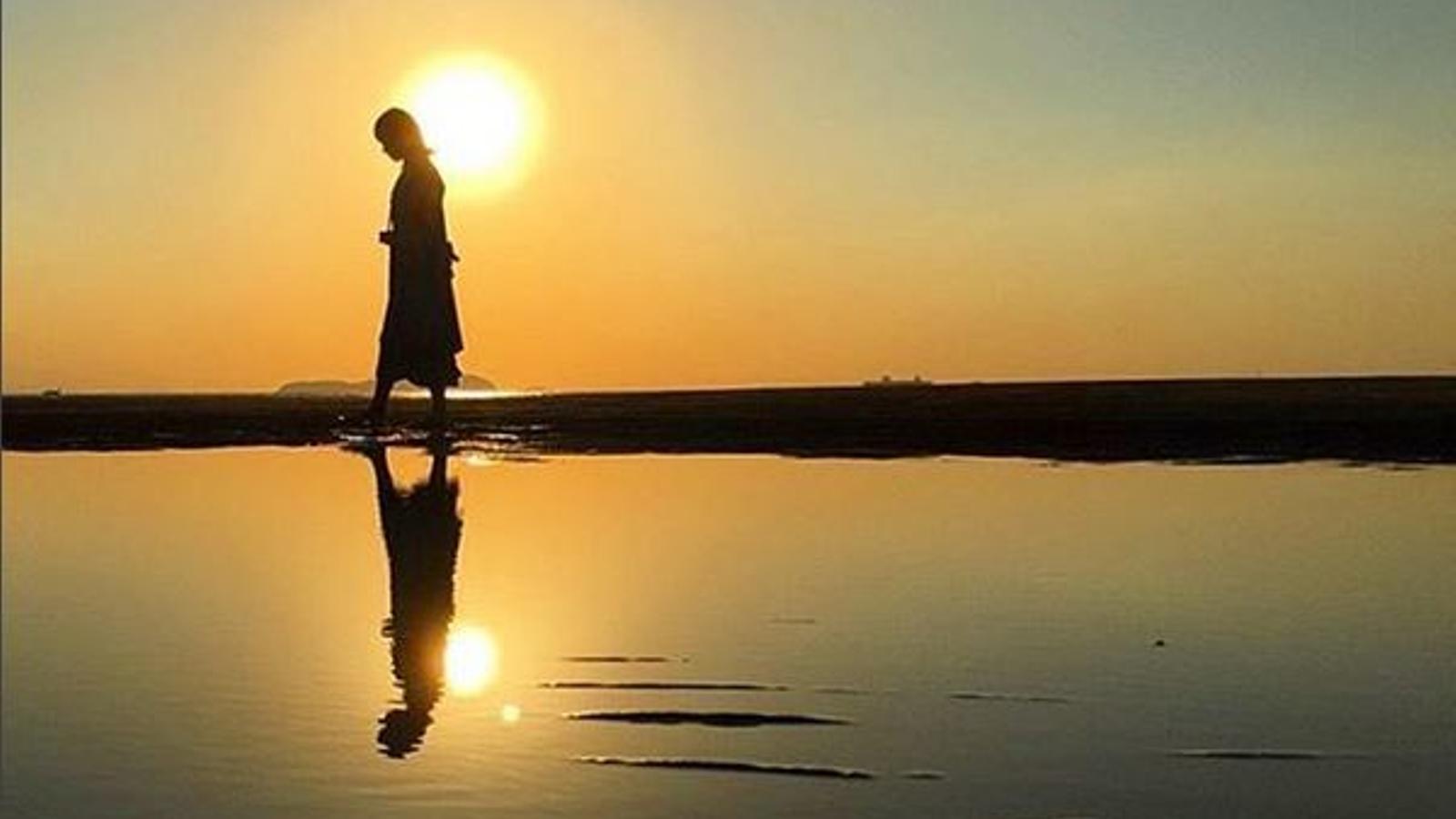 Una de les imatges de la platja japonesa que hi ha a la xarxa