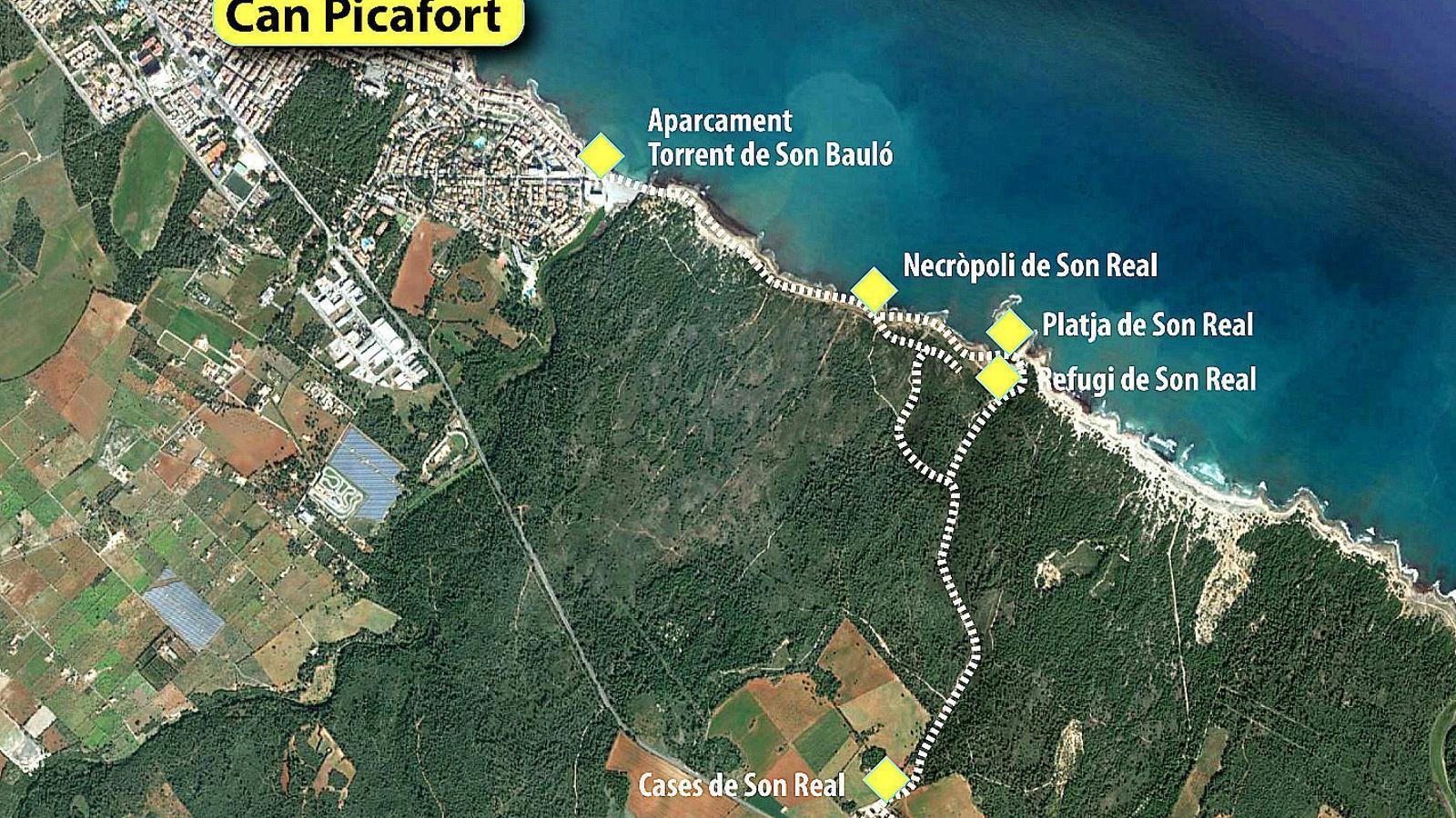 Can Picafort - Son Real, ubicat  al nord de Mallorca