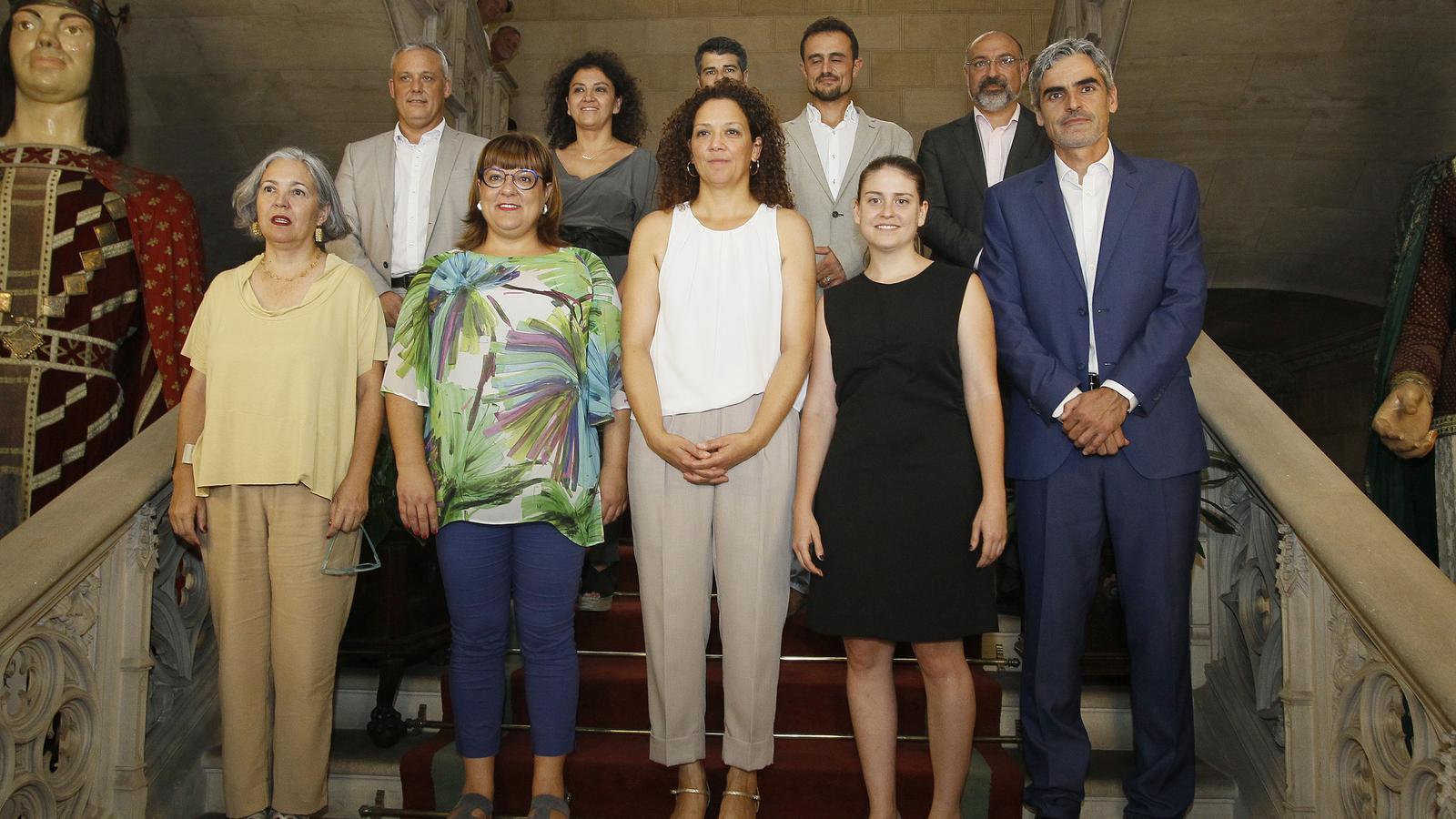 La presidenta del Consell de Mallorca, Catalina Cladera, amb els nous consellers insulars