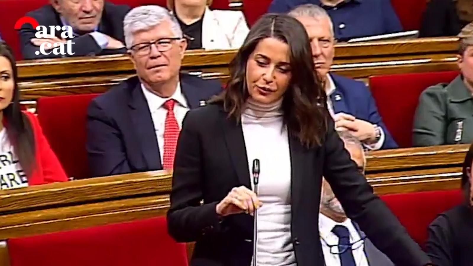 Arrimadas al Parlament: Aquí són molt gallets però s'enfonsen davant dels jutges