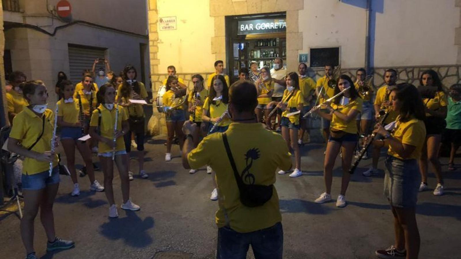 La banda municipal de Pollença durant l'Alborada