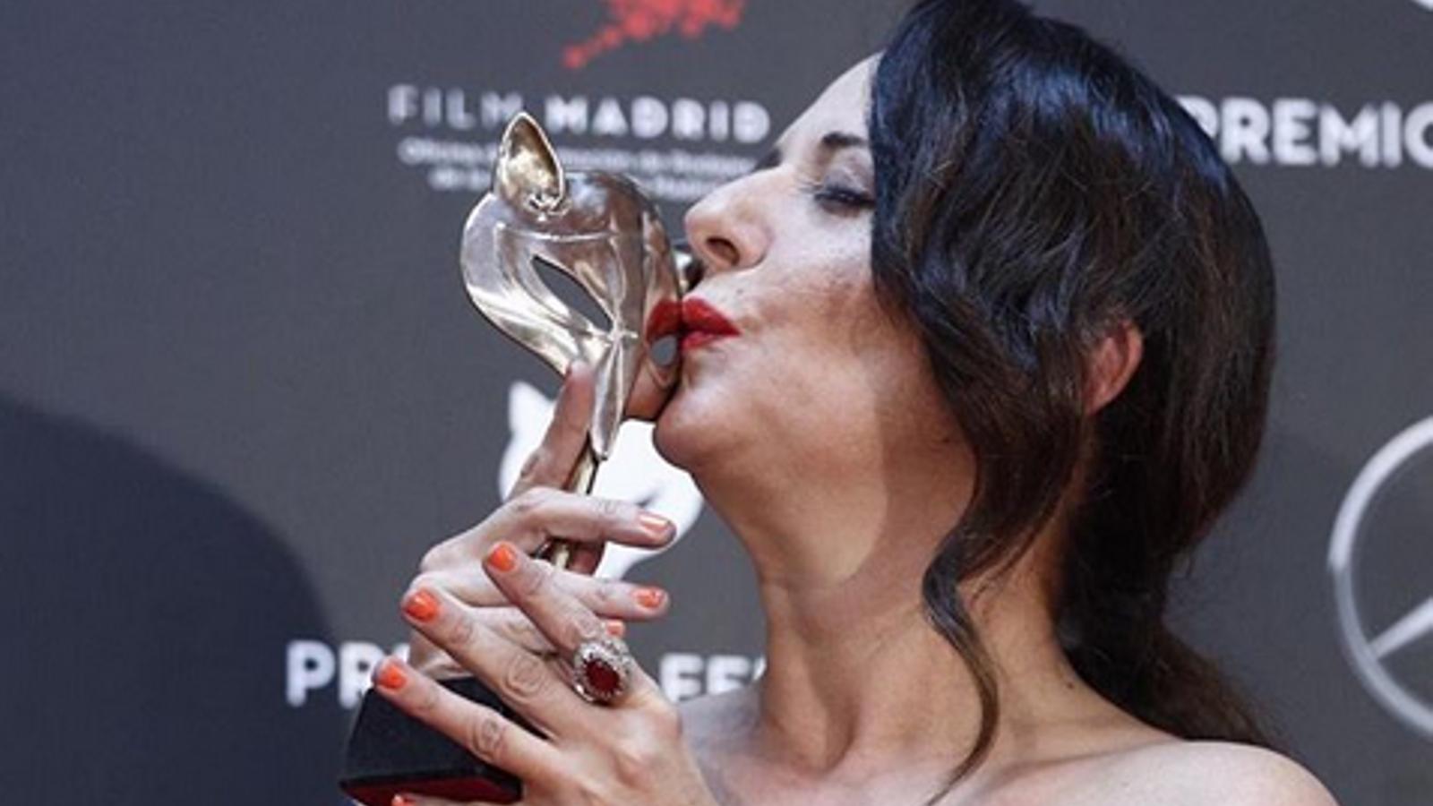 Yolanda Ramos, la nit que va guanyar un Premi Feroz