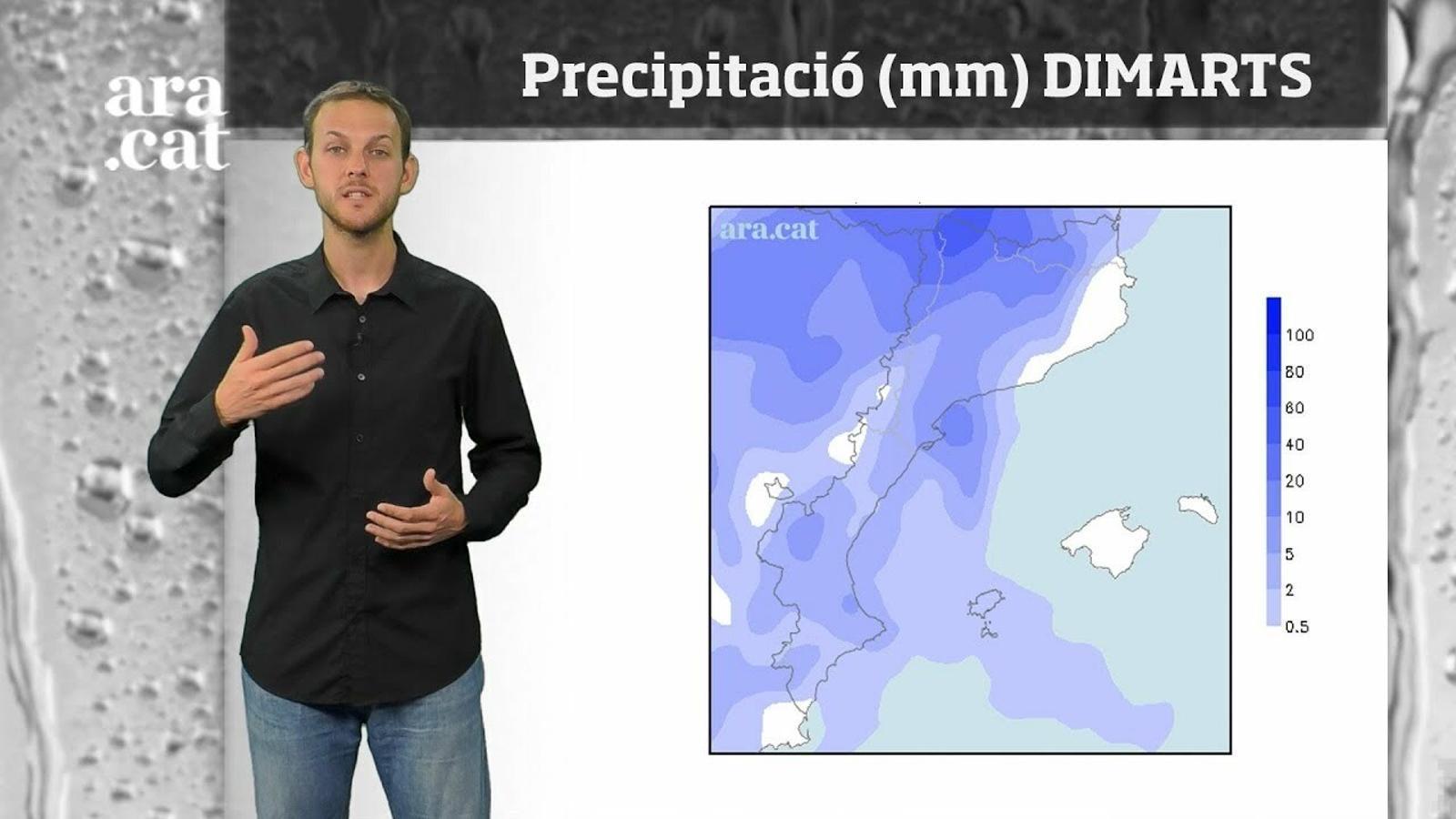 La méteo en 1 minut: l'arribada de xàfecs i tempestes per l'oest farà baixar la temperatura