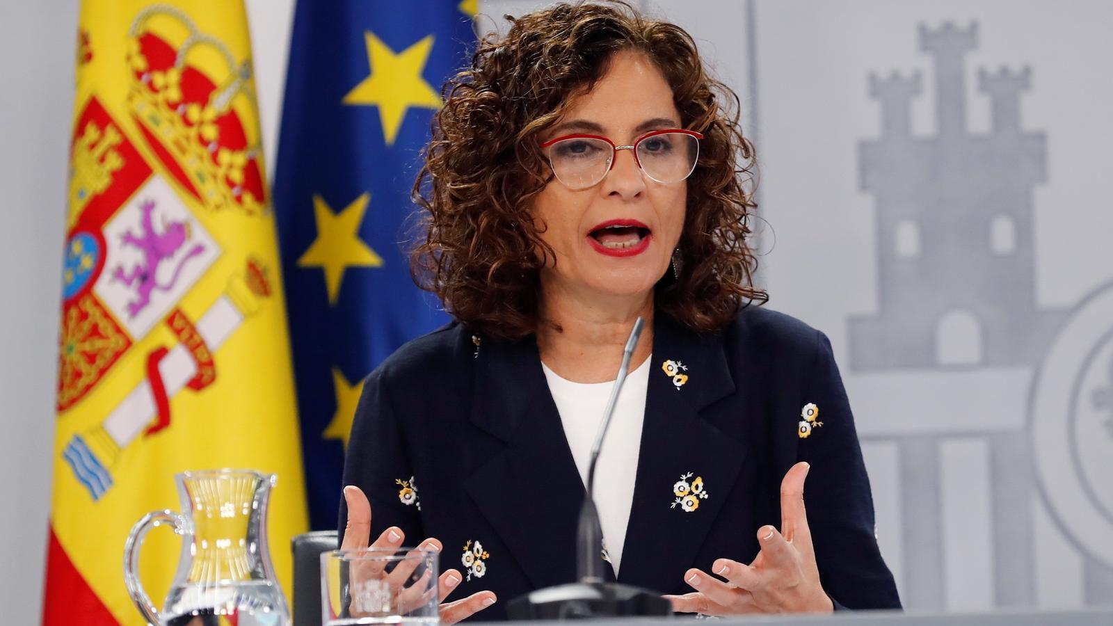 Maria Jesús Montero durant la roda de premsa posterior al consell de ministres