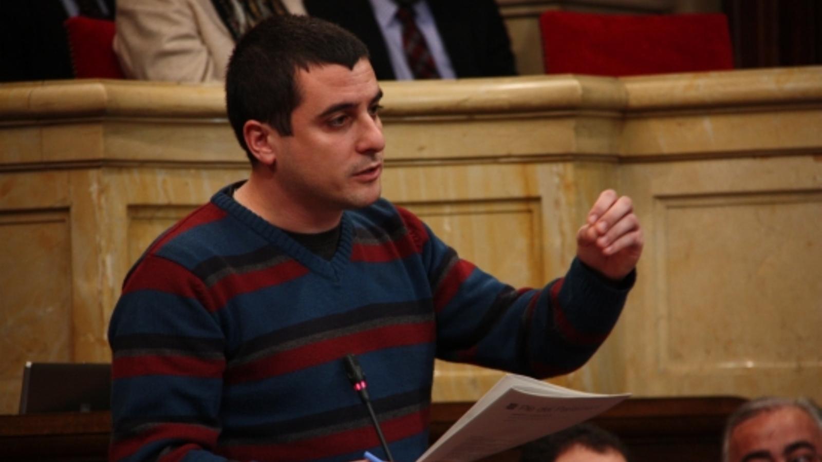 Quim Arrufat, al Parlament / ACN