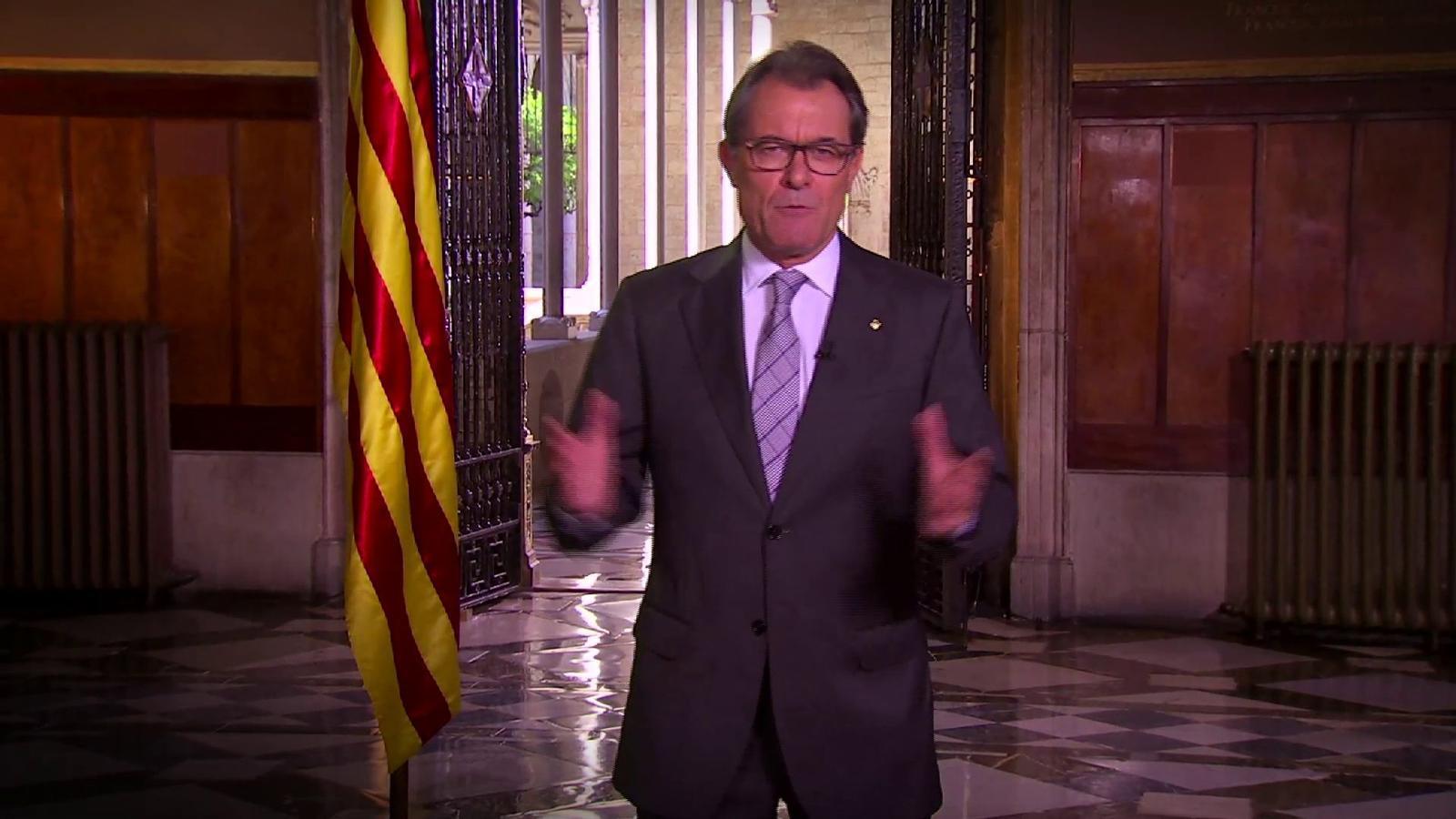 El discurs d'Artur Mas de la Diada 2014