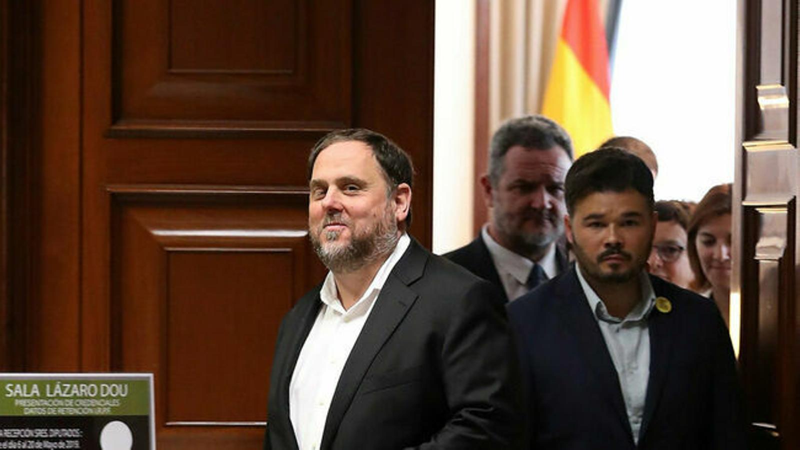 La Fiscalia rebutja la petició d'Oriol Junqueras de recollir l'acta d'eurodiputat davant la Junta Electoral Central