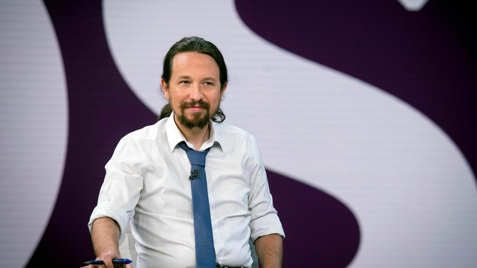 El líderd d'Unides Podem, Pablo Iglesias, en una entrevista recent a Antena 3.