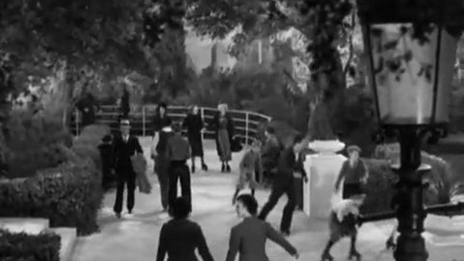 Una escena de Fred Astaire on es veu el joc de paraules que utilitza 'Time'