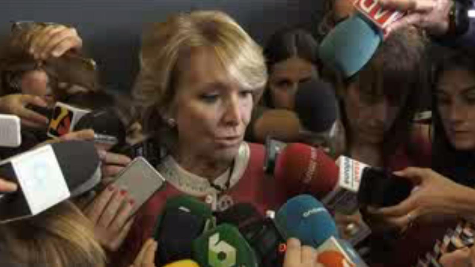 Aguirre s'emociona a l'hora de parlar de la investigació a Ignacio González