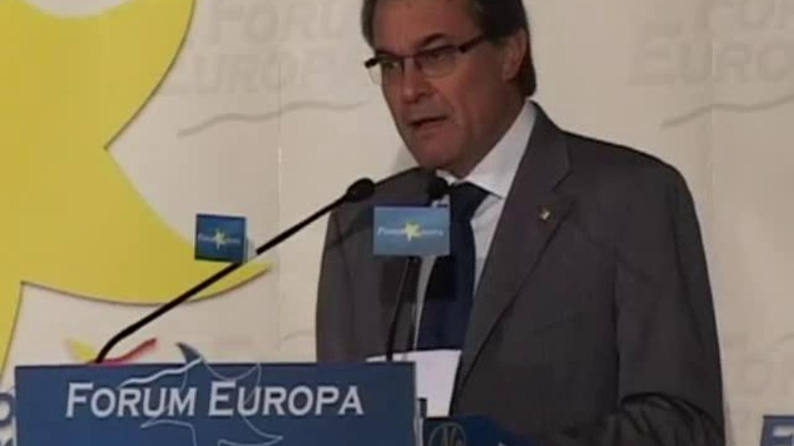 Artur Mas diu a Madrid: Catalunya necessita un estat