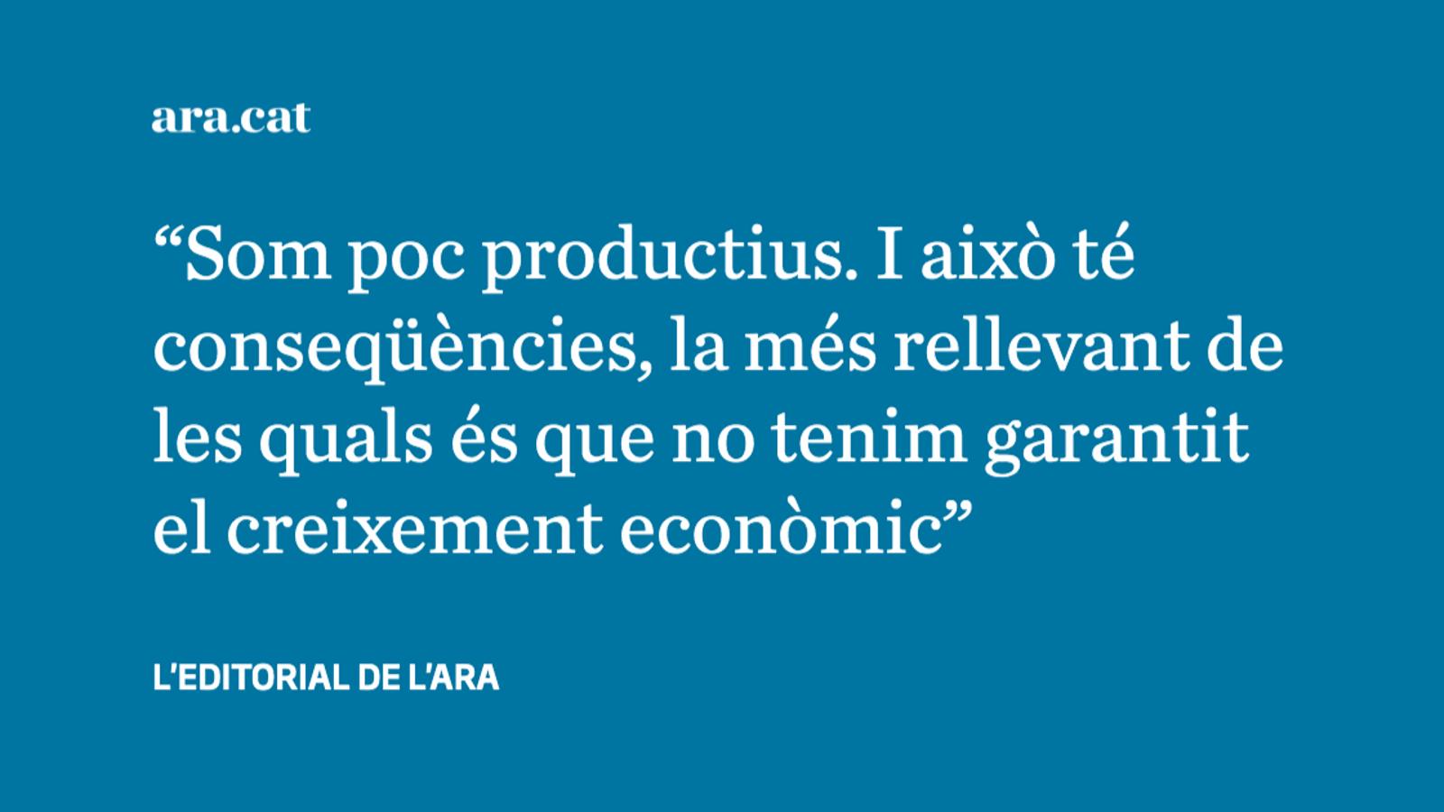 Catalunya suspèn en productivitat