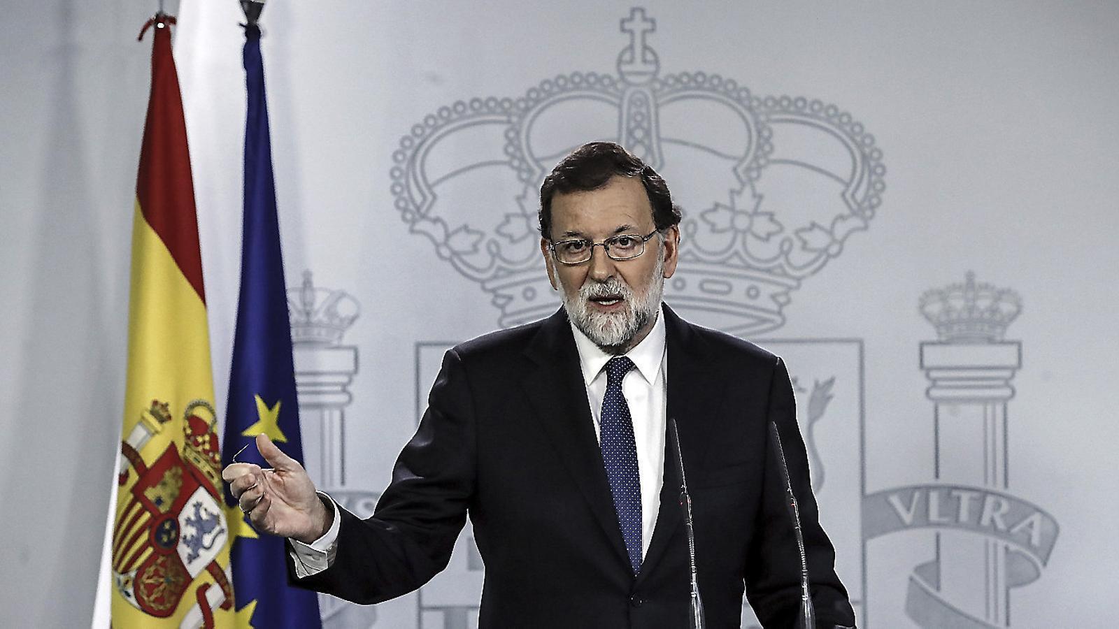 Avui fa un any Rajoy demana a puigdemont si  Va declarar la independència o no
