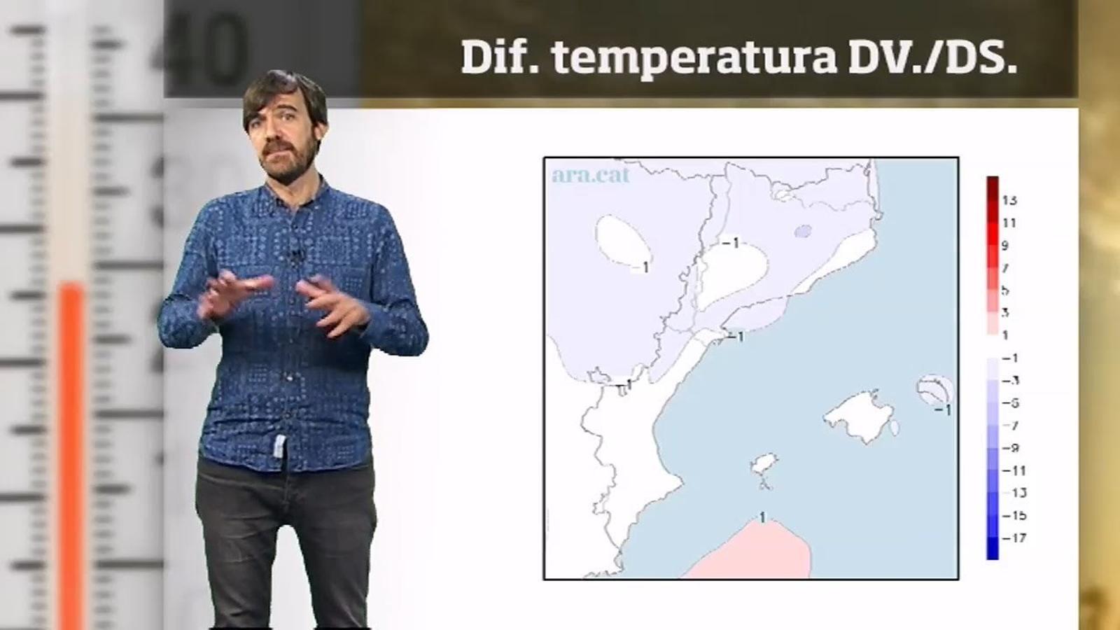 La méteo en 1 minut: temperatures a la baixa