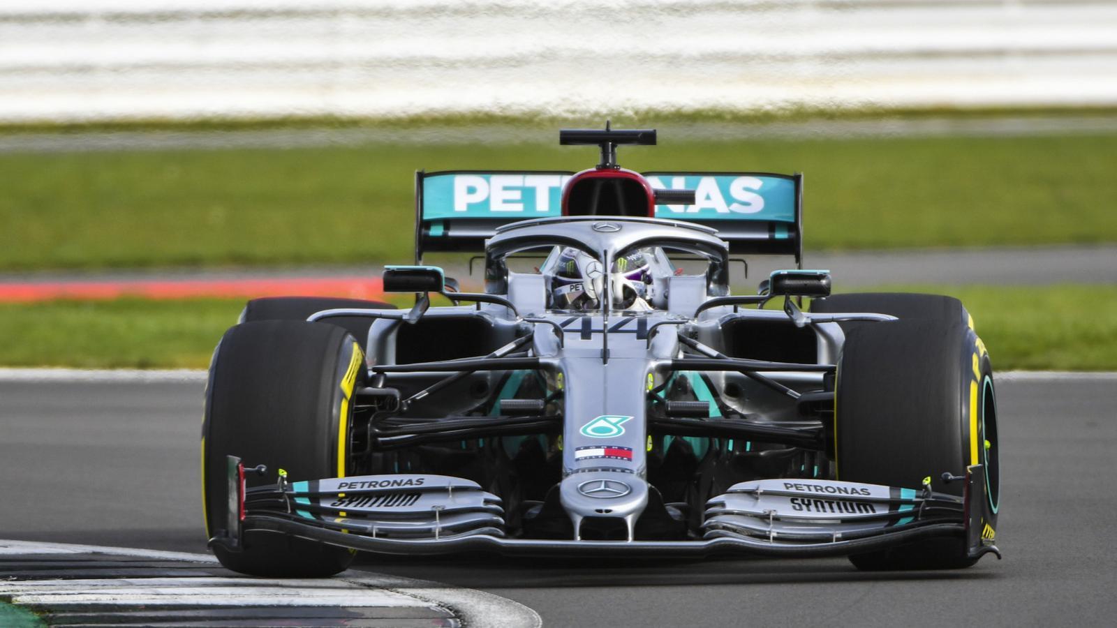 El nou Mercedes, en acció durant el 'shakedown'