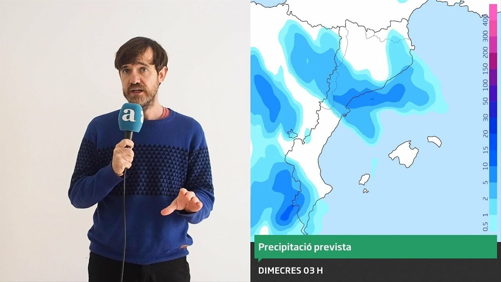 La méteo: aquest dimecres plourà més i en més comarques