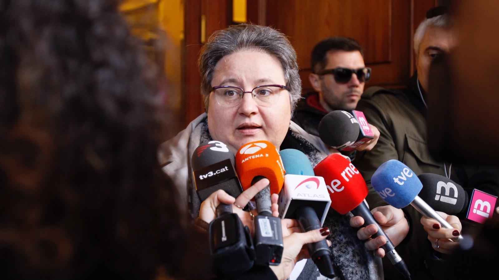 La diputada Montse Seijas, aquest dimarts, al Parlament.