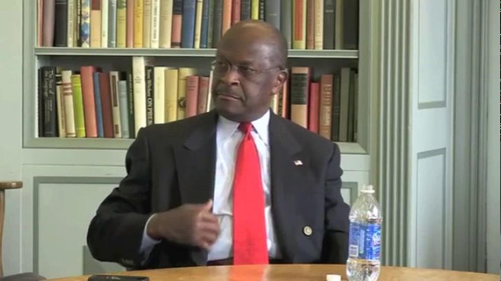 El candidat republicà Herman Cain, en blanc en una entrevista quan li pregunten per Líbia
