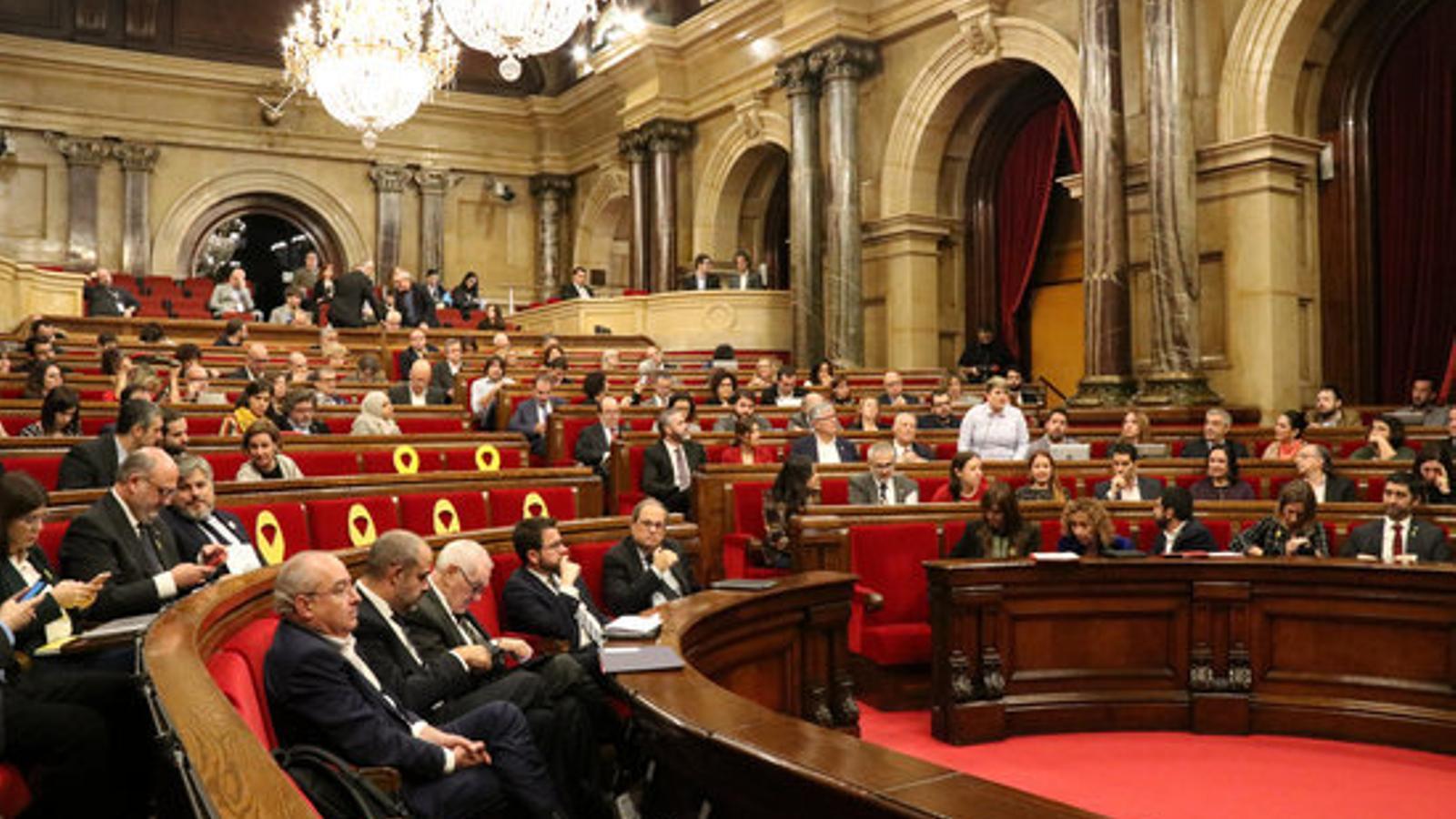 Hemicicle del Parlament en la sessió de control del 21 de novembre de 2018