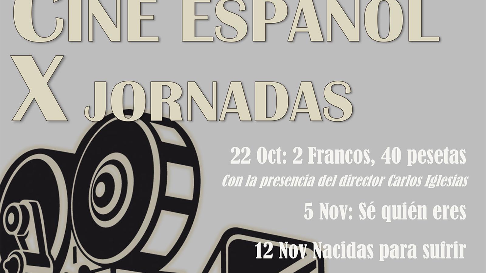 El cartell de les jornades de cinema. / AMBAIXADA D'ESPANYA