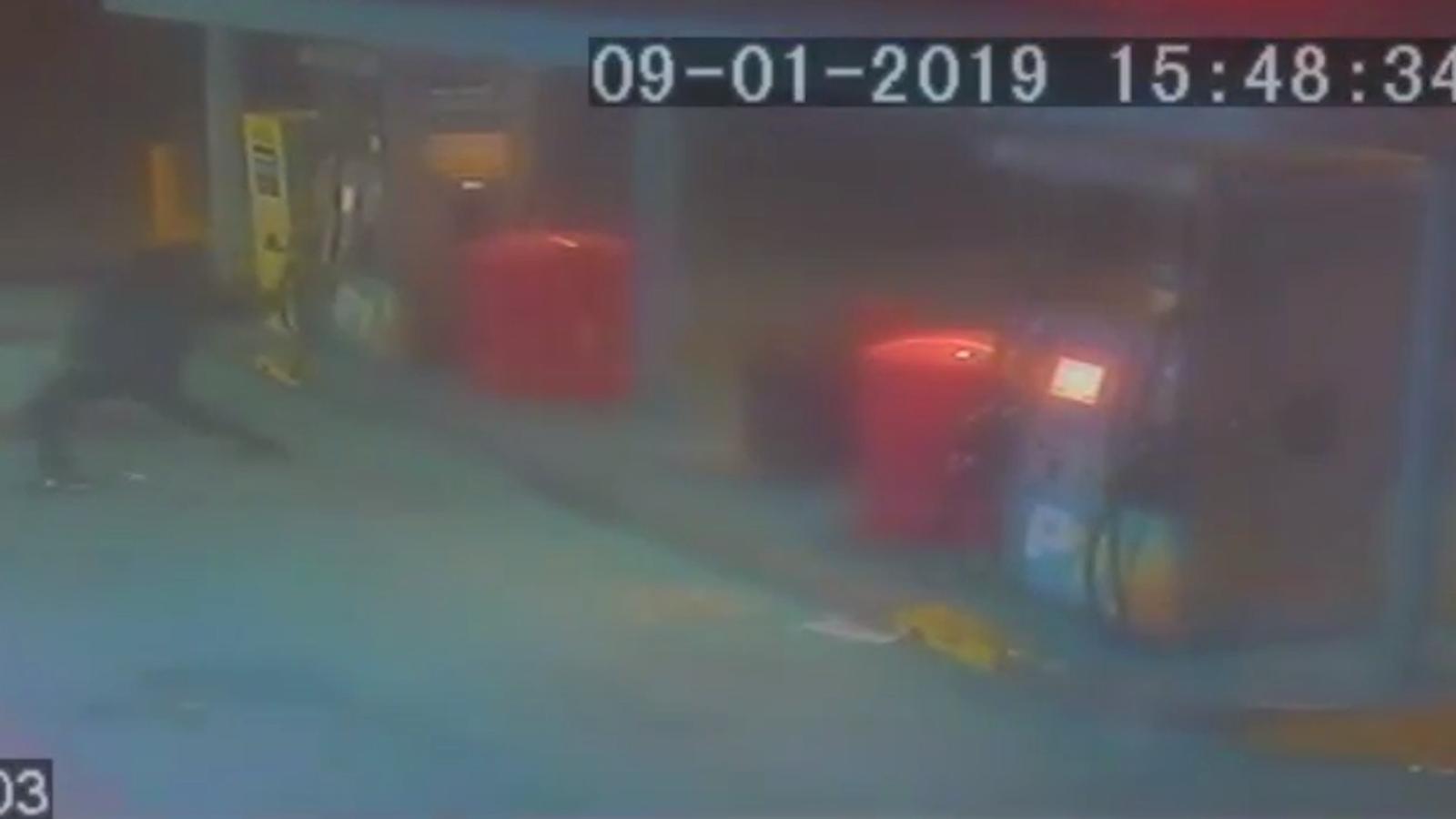 Atac a la gasolinera Petrolis Independents de Terrassa