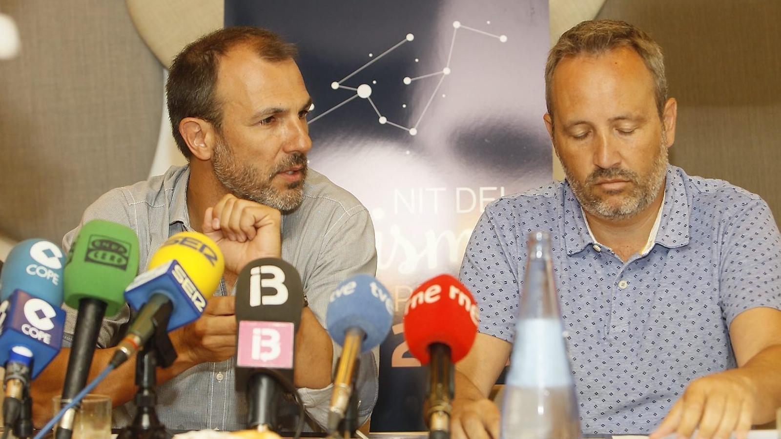 Biel Barceló i el president de l'ATB, Pere Muñoz.