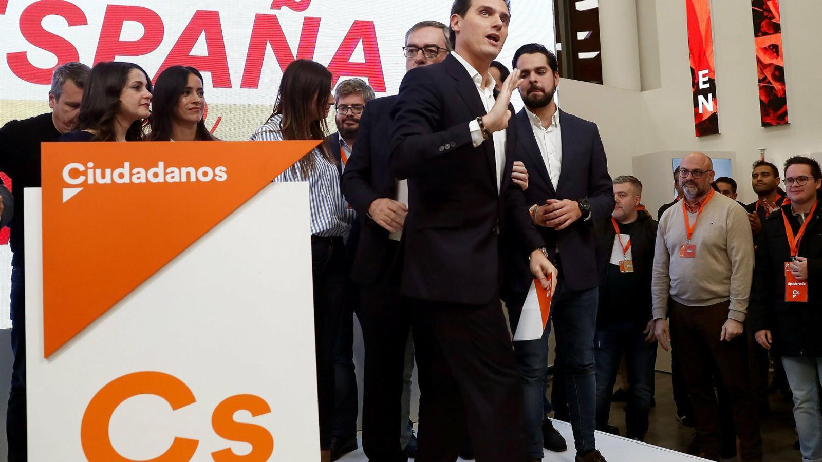 Albert Rivera va convocar ahir una cimera urgent per estudiar el futur del partit.