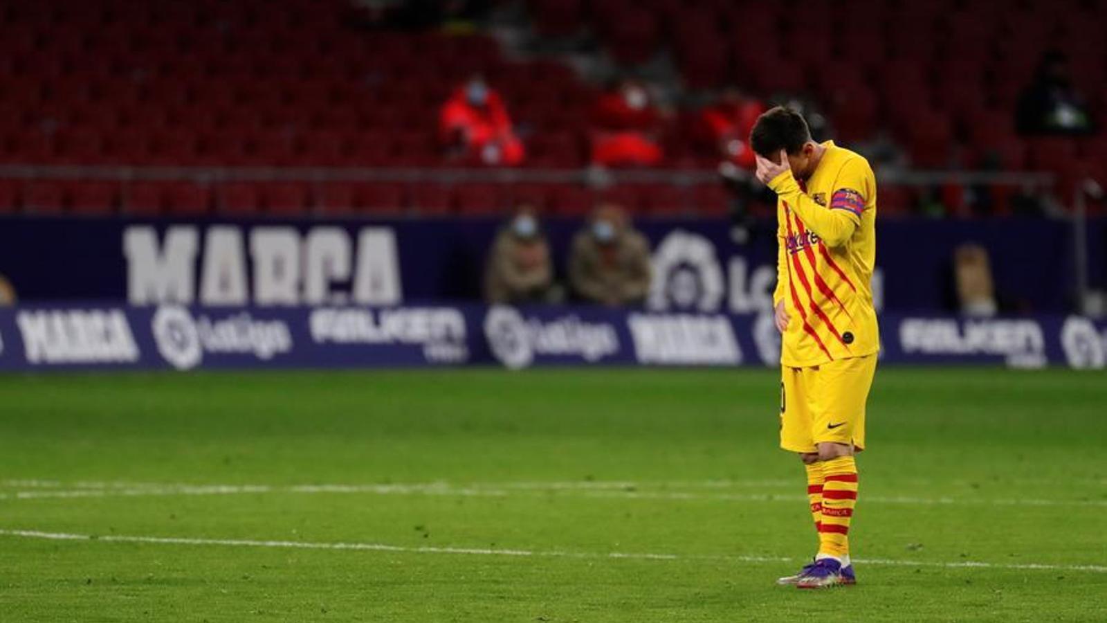 Messi, decepcionat al Wanda Metropolitano