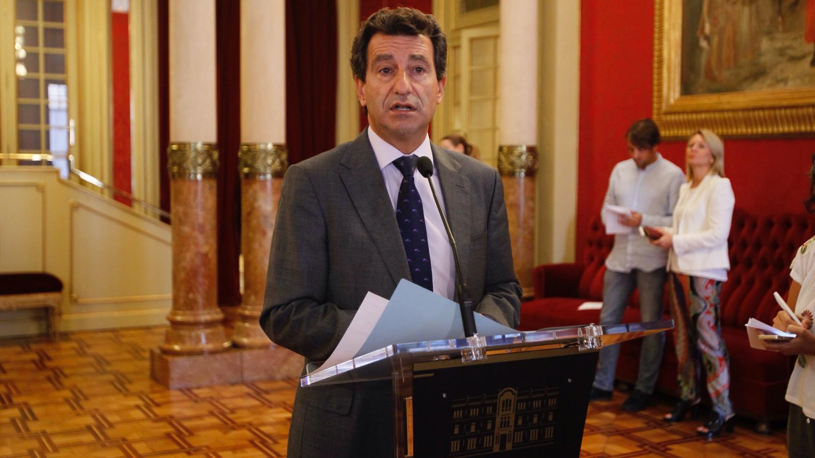 El president del PP, Biel Company, aquest dimarts, al Parlament.