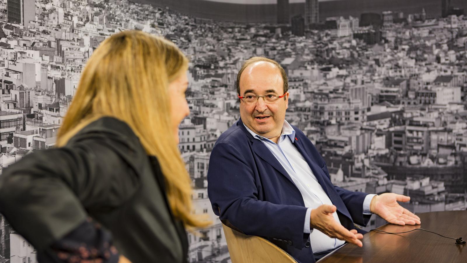 """Miquel Iceta: """"Si alguna cosa ha demostrat el moviment independentista és el seu caràcter pacífic"""""""